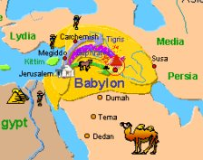Jerusalem to Babylon Map